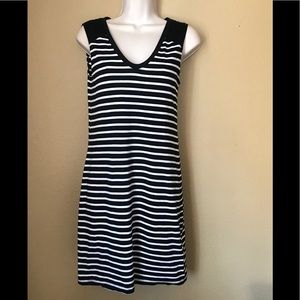 Banana Republic XS Striped Dress Sleeveless